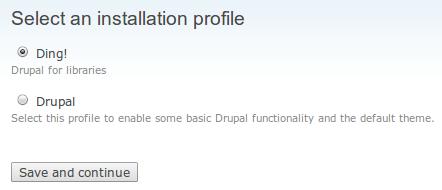 Selecionar perfil de instalaçãoting-selecionar-perfil-instalacao
