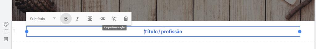 """Tela que mostra as opções de bloco de conteúdo do tipo """"Caixa de texto""""."""