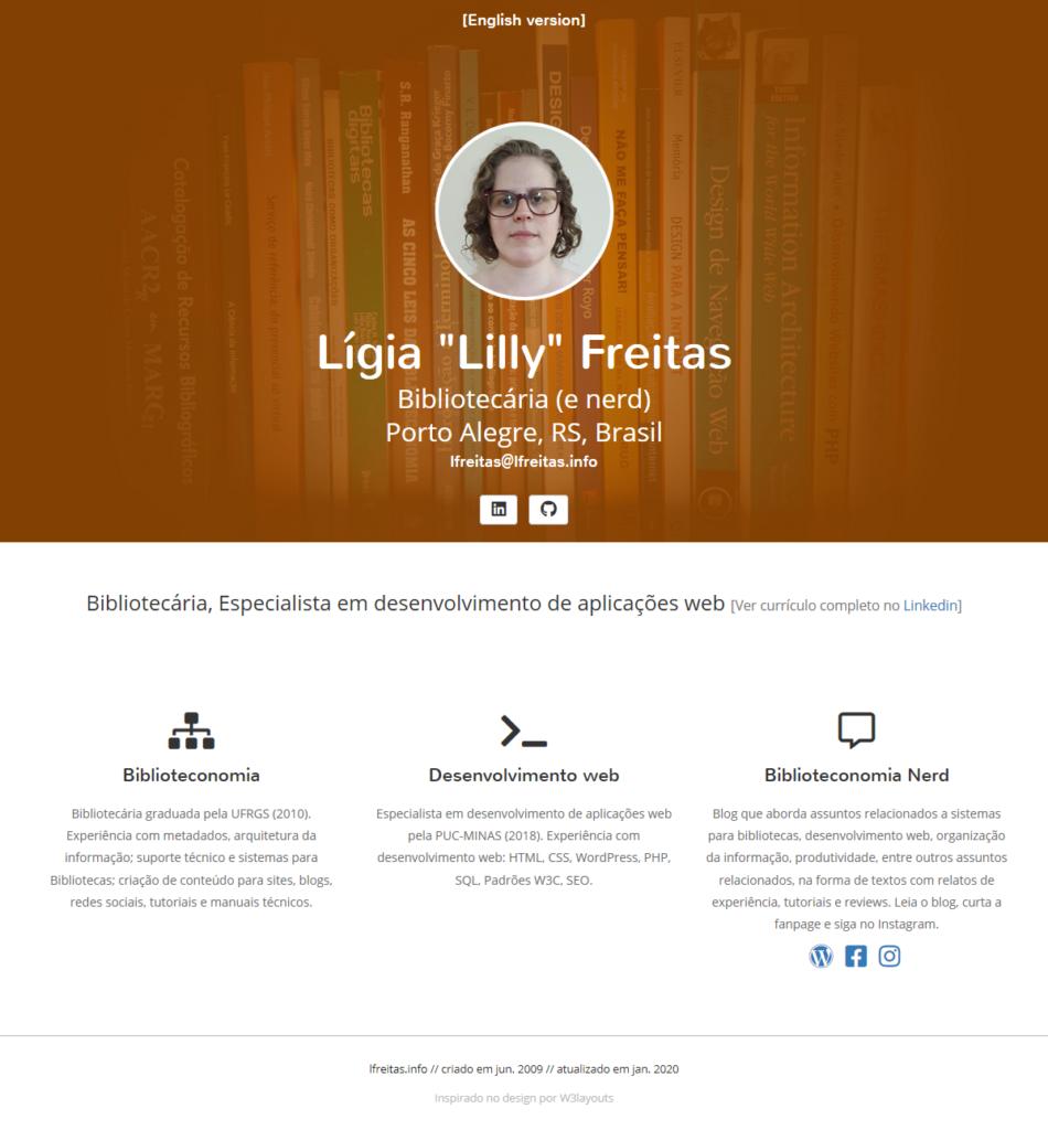 Meu site original, desenvolvido com HTML e CSS.